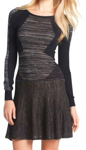 BCBGMAXAZRIA short dress Black Sweater Knit on Tradesy