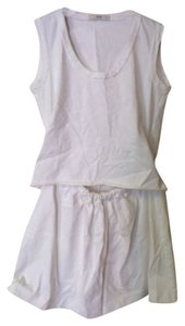 Prada short dress white Cotton Blousy Beach on Tradesy