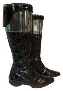 Versace BLACK W/SILVER Boots