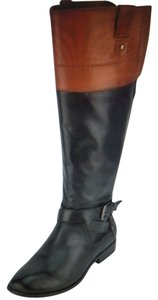 Marc Fisher Black and Cognac Boots