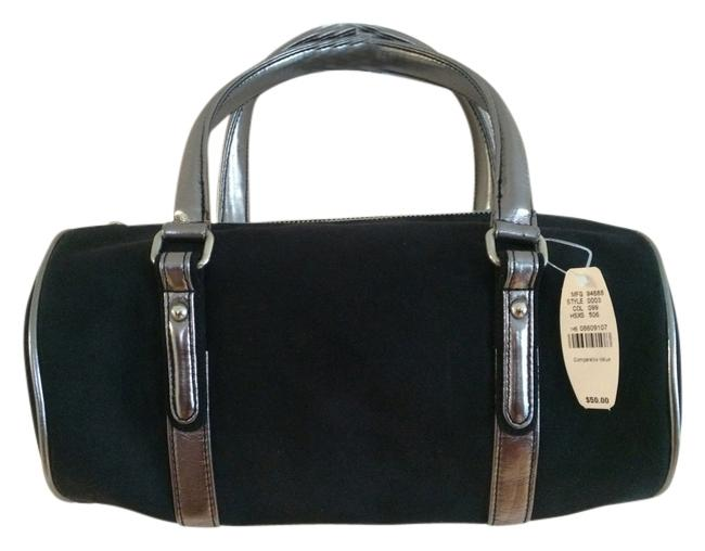 Item - Mfg 94688 Style 0003 Col 099 Hsxs 506 Black and Silver Faux Suede Satchel