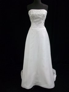 Melissa Sweet Diamond White Silk Crepe Wedding Dress