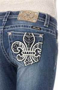 Miss Me Mid Rise New Slimming Boot Cut Jeans-Distressed