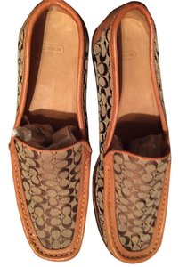 Coach BEIGE AND BROWN Flats