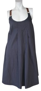 Max Mara short dress BLUE Halter Leather on Tradesy