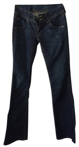 Hudson Jeans Low Rise Dark Rinse Denim Boot Cut Jeans-Dark Rinse