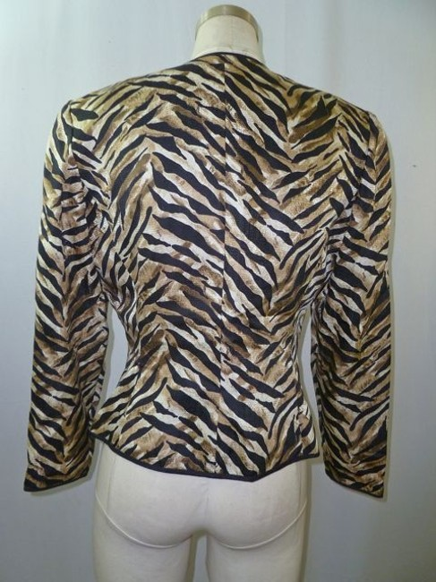 Adrianna Papell Black, White, Brown Jacket
