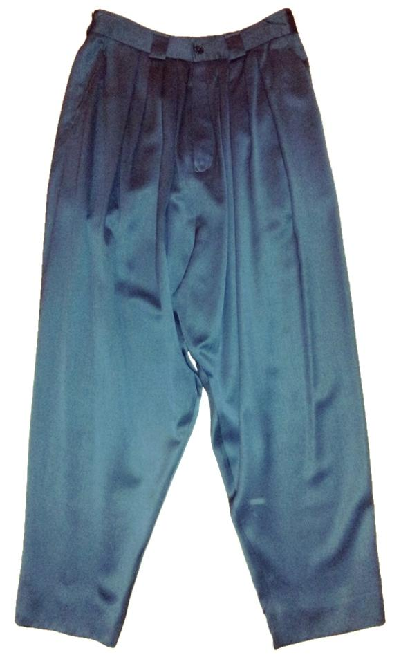 ae0eed1a6db6 Kenzo Vintage Side Pockets Button Fly Made In France Pleated Front   Wool  Satin Twill Relaxed ...