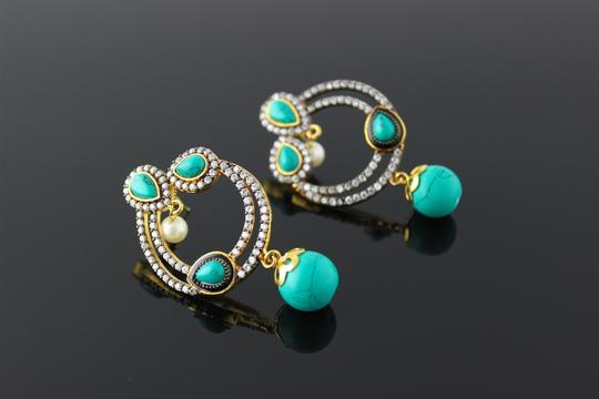 Other Turquoise American Diamond Round Bali