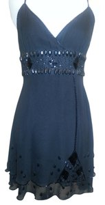 bebe Beaded Sheer 1920 Style Dress