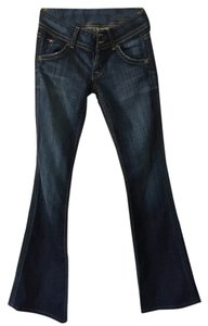 Hudson Jeans Denim Low Rise Boot Cut Jeans-Dark Rinse