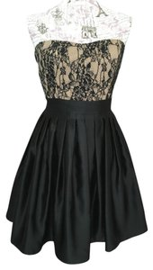 Aidan Mattox Lace Pleated Dress