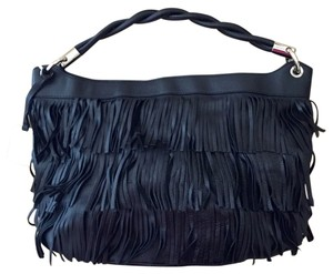 Furla Fringe Leather Strap Cross Body Bag