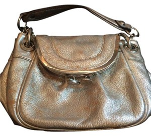 B. Makowsky Vintage Leather Shoulder Bag