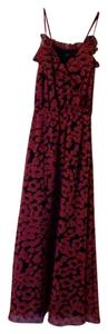 Pink and Navy Floral Maxi Dress by MM Couture