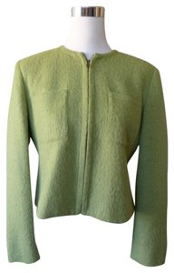 Jones New York Chanel Box Cut Classic Spring Green Blazer