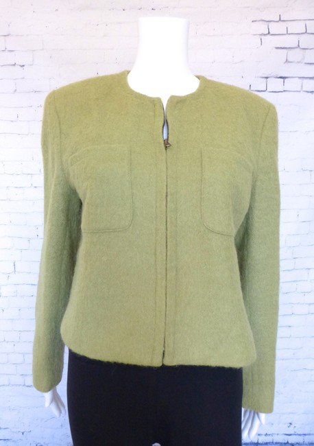 Jones New York Chanel Box Cut Classic Career Spring Green Blazer