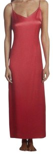 La Perla LA PERLA PINK SILK LONG GOWN (LARGE)