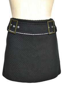 Sharagano Mini Skirt Black, White