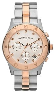 Marc by Marc Jacobs MARC BY MARC JACOBS BLADE CHRONOGRAPH WATCH -- SILVER/ROSE GOLD