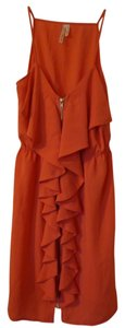Hello Miss short dress Orange / Tangerine on Tradesy