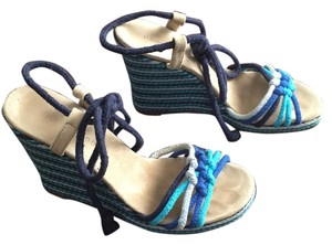 Marc by Marc Jacobs Summer Espadrilles Blue Combination Wedges