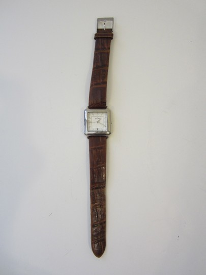 Skagen Denmark Skagen Denmark Brown Leather Band Silver-tone Face Stainless Steel Watch