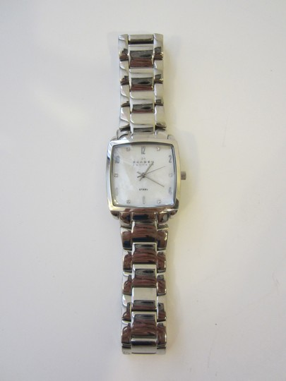 Skagen Denmark Stainless Steel with Iridescent Pearl Face Watch