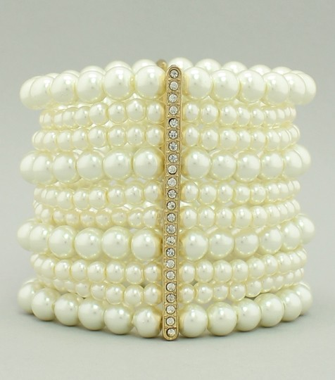 Multi Row Pearl Necklace: Multi-row Pearl Statement Bracelet 67% Off #7369420