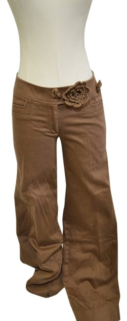 Lillie Rubin Flare Pants Gold Brown