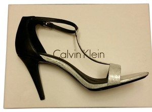 Calvin Klein BLACK AND SILVER Sandals
