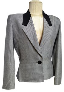 Kasper for A.S.L Black, White Blazer