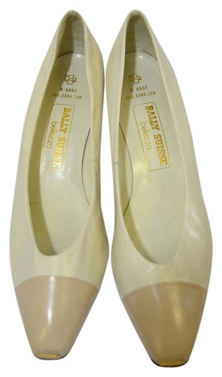 Bally Suisse White Pumps
