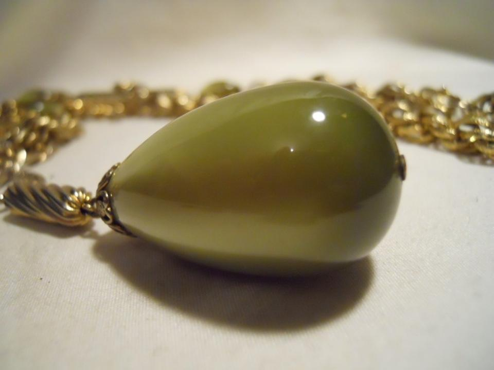 Sarah coventry vintage golden avocado necklace tradesy aloadofball