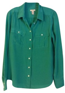 J.Crew Top Emerald Green