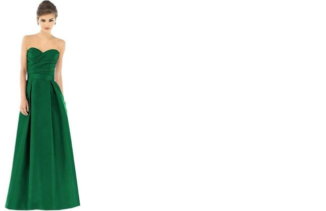 Item - Pine Green - N296 Peau De Soie D539 Formal Bridesmaid/Mob Dress Size 6 (S)