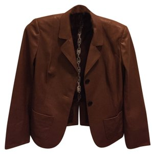 Céline Leather Designer Light tan Leather Jacket