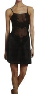 Natori NATORI NWT ENCHANTED BLACK CHEMISE (LARGE)