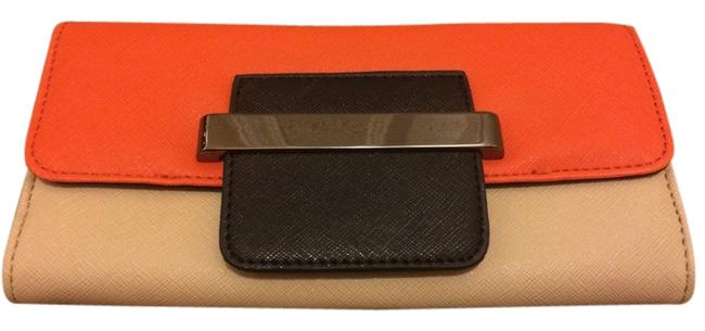 Item - Orange and Tan Leather Clutch