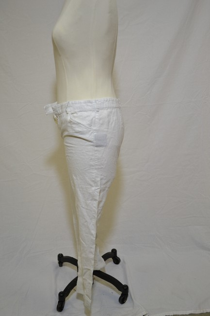 Ralph Lauren Straight Pants White With SIlver Shimmer