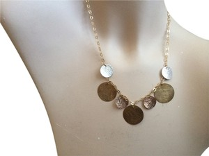 Other 14K Tri Color Gold Disc Necklace