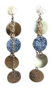 Other 14K Tri Color Gold Disc Earring