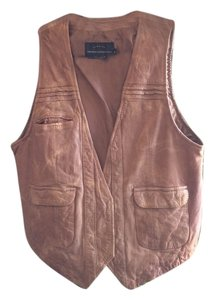 French Connection Leather Vest
