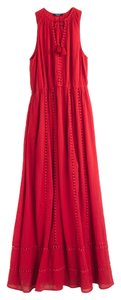 Red Maxi Dress by Madewell Maxi Embroidered