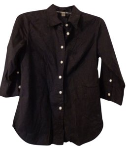 Bitten by Sarah Jessica Parker Button Down Shirt Black