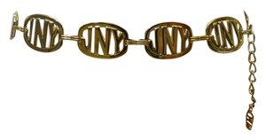 Jones New York Jones New York Monogrammed Gold Tone Metal Chain Belt. Size Medium. 37 1/2