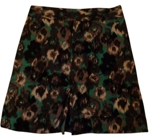 Express Skirt Black and Green Print