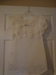 Rye Top White with lace