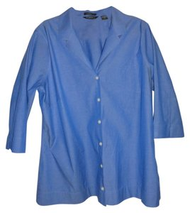 Eddie Bauer Button Down Shirt Blue