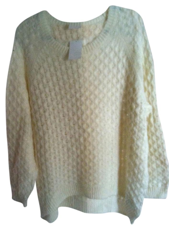 Hm White Cable Knit Oversized Sweaterpullover Size 16 Xl Plus 0x